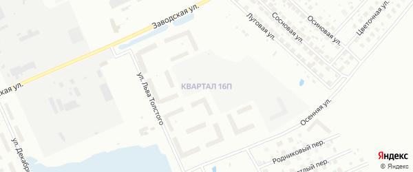 Улица 16П на карте Нижневартовска с номерами домов
