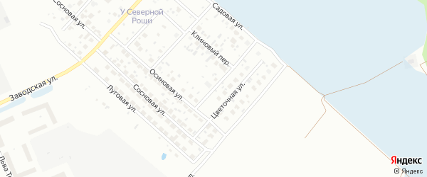 Цветочный переулок на карте Нижневартовска с номерами домов