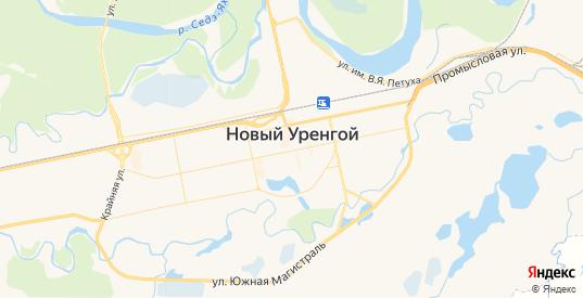 Карта Нового Уренгоя с улицами и домами подробная. Показать со спутника номера домов онлайн
