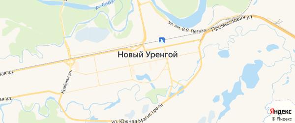 Карта Нового Уренгоя с районами, улицами и номерами домов
