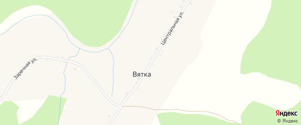 Центральная улица на карте деревни Вятки Новосибирской области с номерами домов