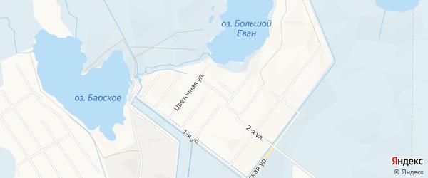 Район Голубого озера на карте Нижневартовска с номерами домов