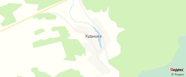 Карта деревни Худышки в Новосибирской области с улицами и номерами домов