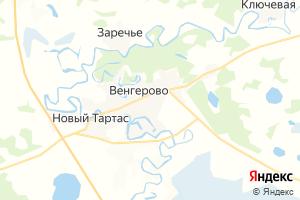 Карта с. Венгерово Новосибирская область
