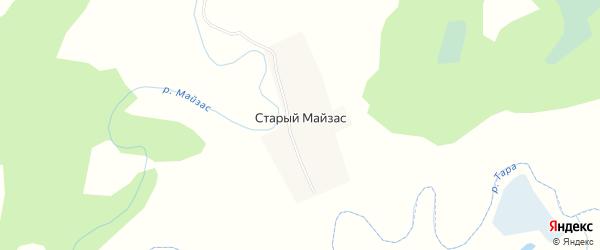 Карта деревни Старого Майзаса в Новосибирской области с улицами и номерами домов