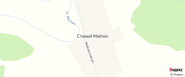 Майзасская улица на карте деревни Старого Майзаса Новосибирской области с номерами домов