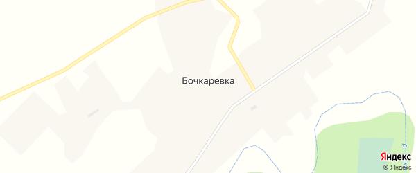 Школьная улица на карте деревни Бочкаревки Новосибирской области с номерами домов