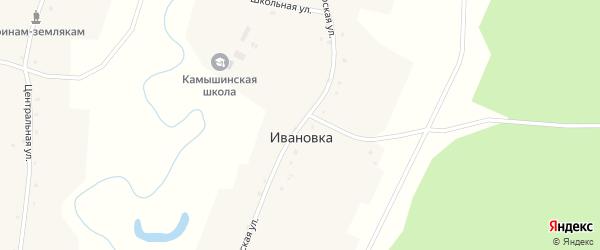 Сибирская улица на карте деревни Ивановки Новосибирской области с номерами домов