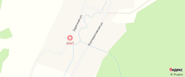 Кооперативная улица на карте деревни Шмаковки Новосибирской области с номерами домов