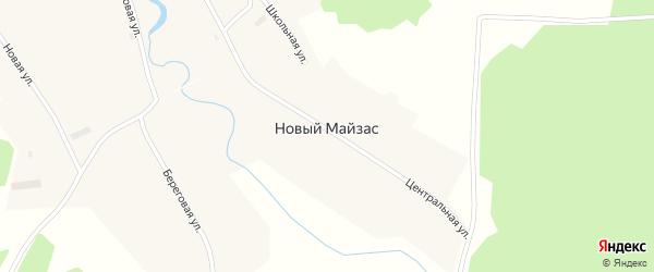 Заречная улица на карте деревни Нового Майзаса Новосибирской области с номерами домов