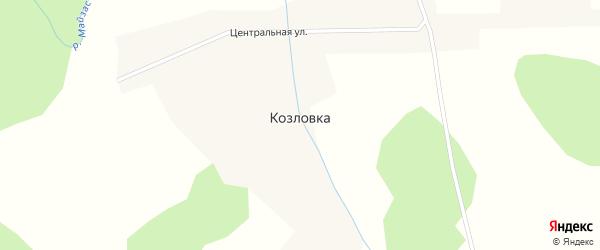 Центральная улица на карте деревни Козловки Новосибирской области с номерами домов