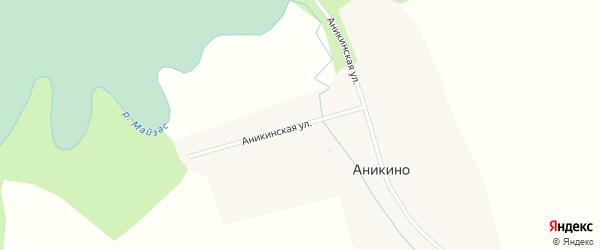 Аникинская улица на карте деревни Аникино Новосибирской области с номерами домов