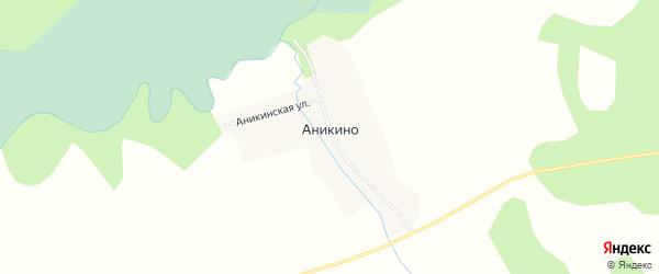 Карта деревни Аникино в Новосибирской области с улицами и номерами домов