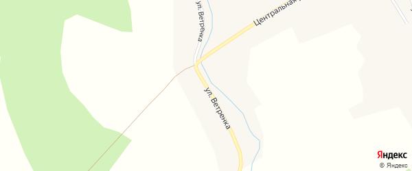 Улица Ветренка на карте села Крутихи Новосибирской области с номерами домов