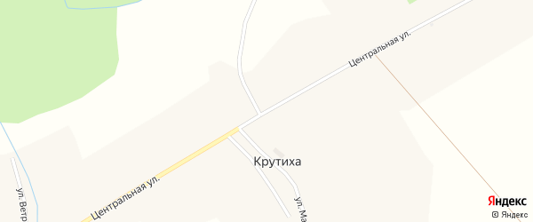 Центральная улица на карте села Крутихи Новосибирской области с номерами домов