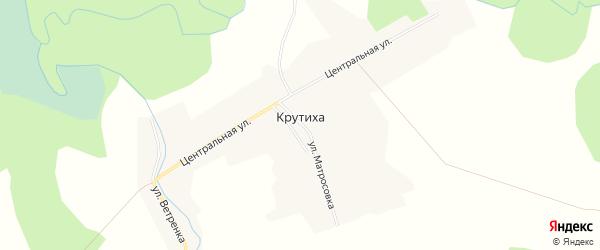 Карта села Крутихи в Новосибирской области с улицами и номерами домов