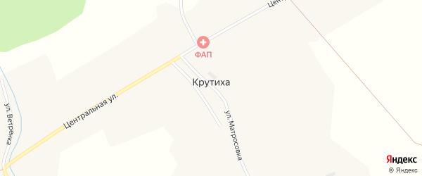 Молодежная улица на карте села Крутихи Новосибирской области с номерами домов
