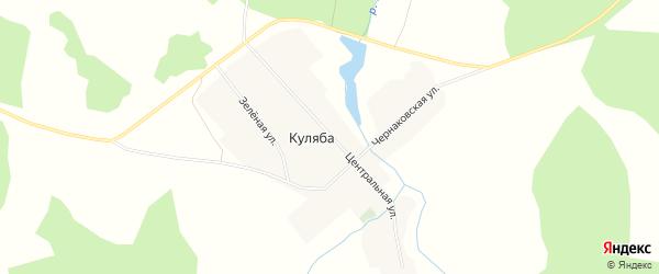 Карта деревни Куляба в Новосибирской области с улицами и номерами домов