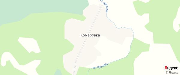 Карта деревни Комаровки в Новосибирской области с улицами и номерами домов