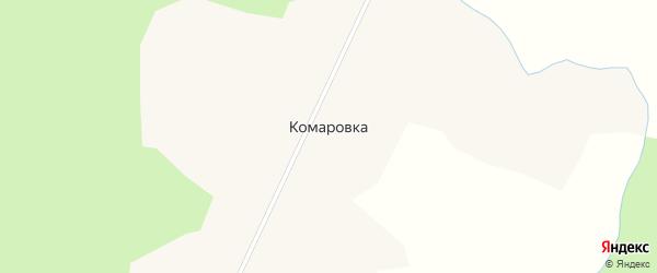 Центральная улица на карте деревни Комаровки Новосибирской области с номерами домов