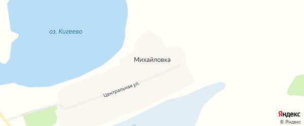 Карта деревни Михайловки в Новосибирской области с улицами и номерами домов
