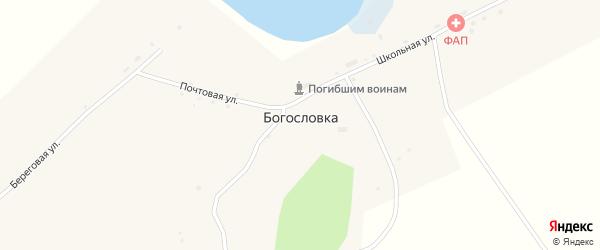 Береговая улица на карте села Богословки Новосибирской области с номерами домов