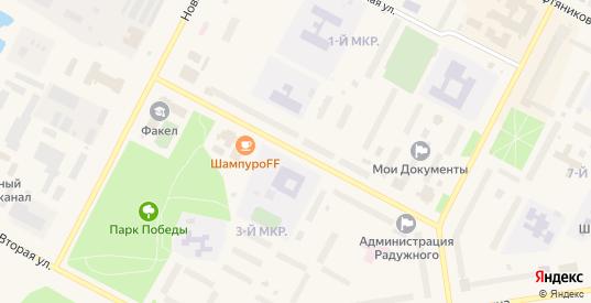 Улица Первостроителей в Радужном с номерами домов на карте. Спутник и схема онлайн