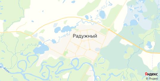 Карта Радужного с улицами и домами подробная. Показать со спутника номера домов онлайн