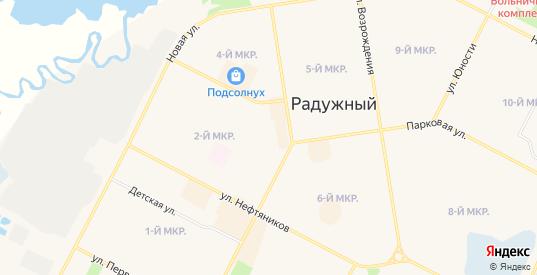 СТ Радужныйнефть на карте Радужного с номерами домов