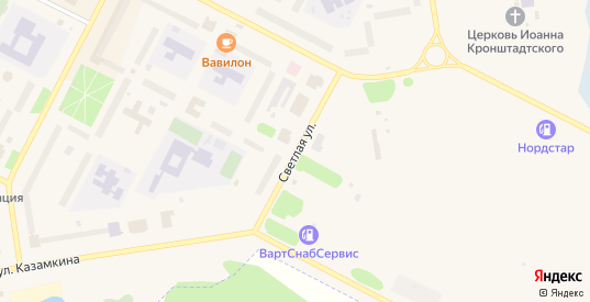 Светлая улица в Радужном с номерами домов на карте. Спутник и схема онлайн