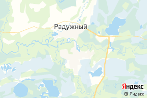 Карта г. Радужный Ханты-Мансийский автономный округ-Югра