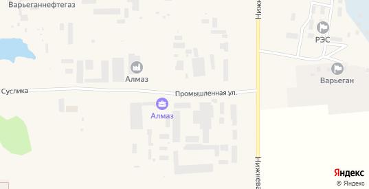 Промышленная улица в Радужном с номерами домов на карте. Спутник и схема онлайн
