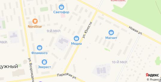 Улица Юности в Радужном с номерами домов на карте. Спутник и схема онлайн