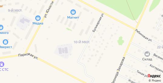10-й микрорайон в Радужном с номерами домов на карте. Спутник и схема онлайн