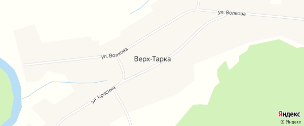 Красногорская улица на карте села Верха-Тарки Новосибирской области с номерами домов