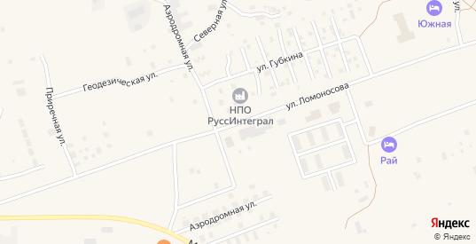 Улица Ломоносова в Радужном с номерами домов на карте. Спутник и схема онлайн