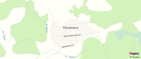Карта деревни Макаровки в Новосибирской области с улицами и номерами домов