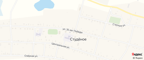 Улица 35 лет Победы на карте Студеного села Новосибирской области с номерами домов