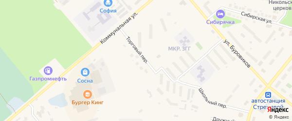 Торговый переулок на карте Стрежевого с номерами домов