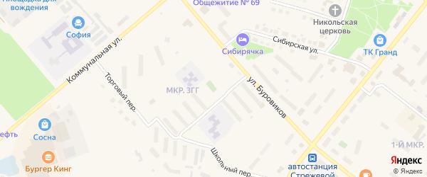 Дорога Стрежевой-Вах 16 км на карте Стрежевого с номерами домов