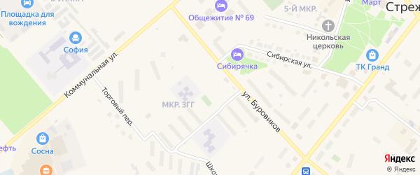 Дорога Стрежевой-Вах 19 км на карте Стрежевого с номерами домов