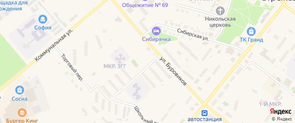 Дорога Стрежевой-Вах 17 км на карте Стрежевого с номерами домов