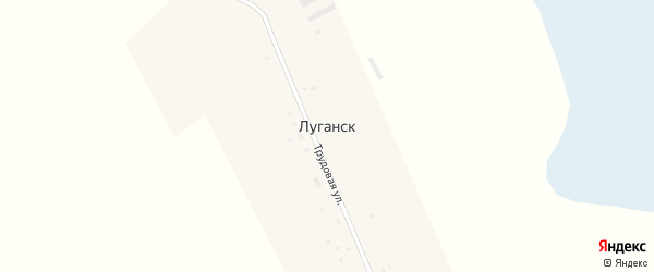 Трудовая улица на карте села Луганска Новосибирской области с номерами домов