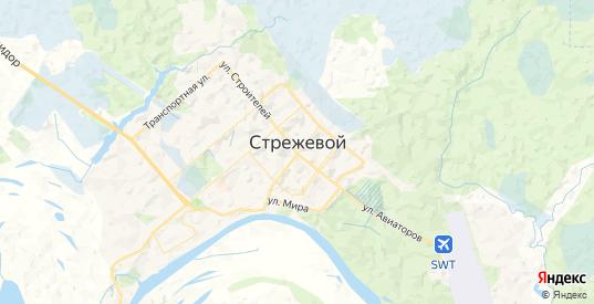 Карта Стрежевого с улицами и домами подробная. Показать со спутника номера домов онлайн