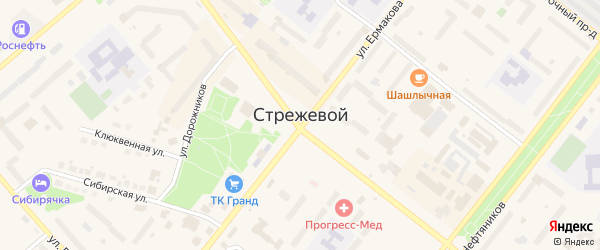 Территория сот Малинка на карте Стрежевого с номерами домов