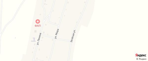 Зеленая улица на карте поселка Поповки Новосибирской области с номерами домов
