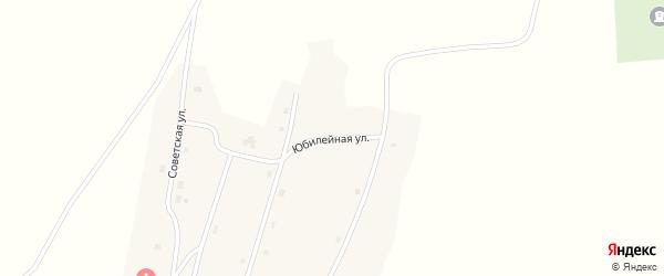 Юбилейная улица на карте поселка Поповки Новосибирской области с номерами домов
