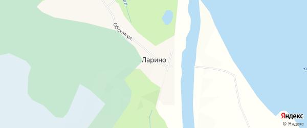 Карта деревни Ларино в Томской области с улицами и номерами домов