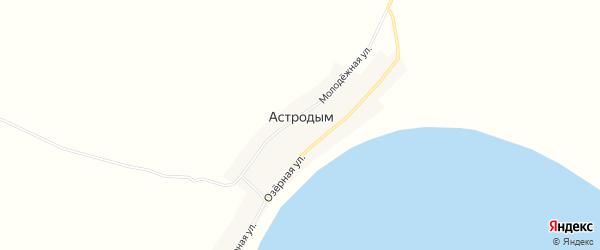 Карта поселка Астродыма в Новосибирской области с улицами и номерами домов