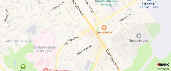 Ряд 5 на карте района Бани с номерами домов